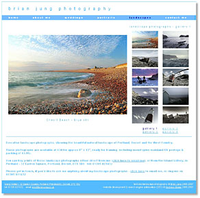 www.brianjung.co.uk, one of the sites I've designed - click here to look at Brian's site (opens in a new window)