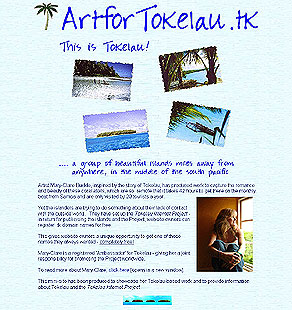 www.ArtforTokelau.tk, one of the sites I've designed
