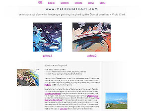 www.VickiClarkArt.com, one of the sites I've designed